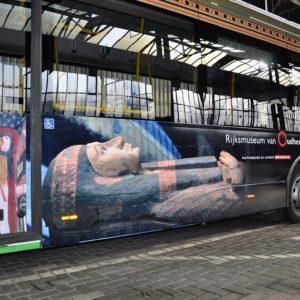 Autobelettering Stadsbus Rijksmuseum