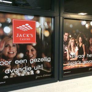 Raamdecoratie Jack's Casino