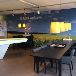 Wanddecoratie kantine Atos Groningen