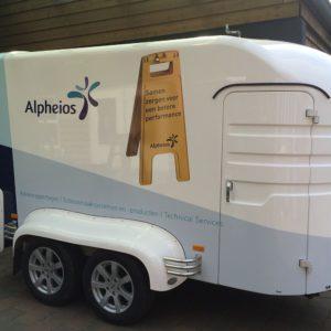 belettering trailer Alpheios