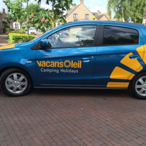 Vacansoleil autobelettering Mitsubishi