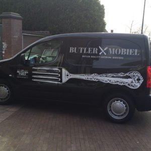 Autobelettering Butler Mobiel