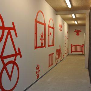 Muurdecoratie appartementen complex Amersfoort