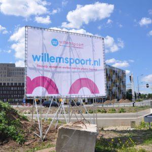 Bouwbord Willemspoort Den Bosch
