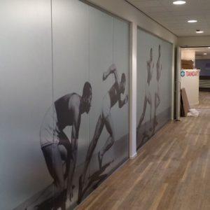 Raamdecoratie print op frosted folie SGE