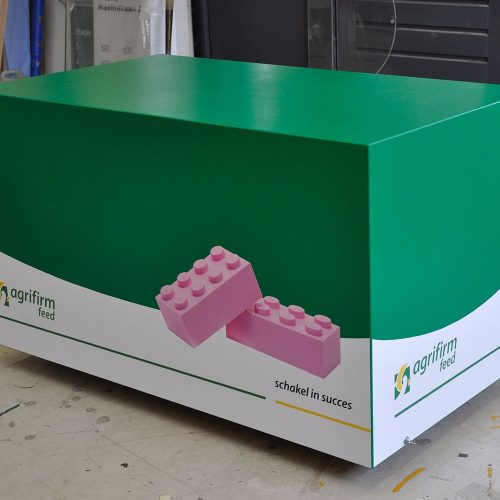 Houten display agrifirm kist