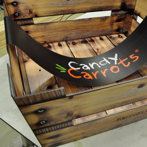 Display advertentie candy carrots