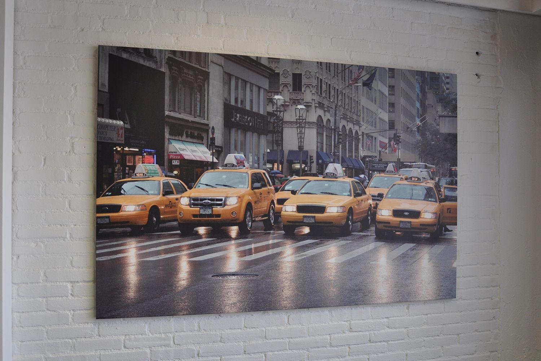 groot formaat print taxis op muur