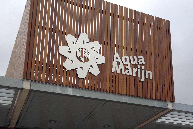 Aqua Marijn gevelreclame