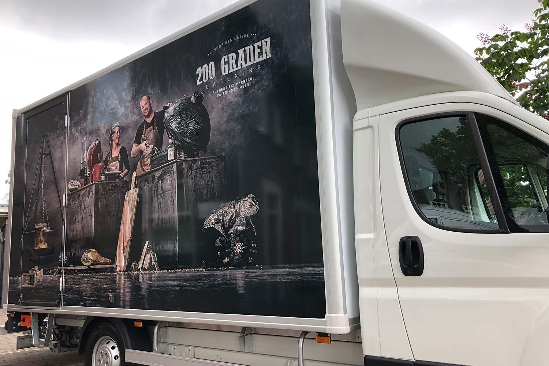 print op vrachtwagen