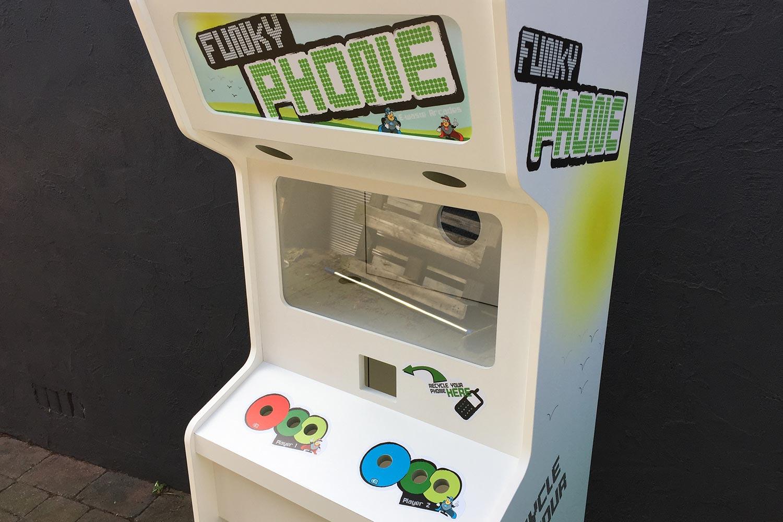 Houten display speelautomaat