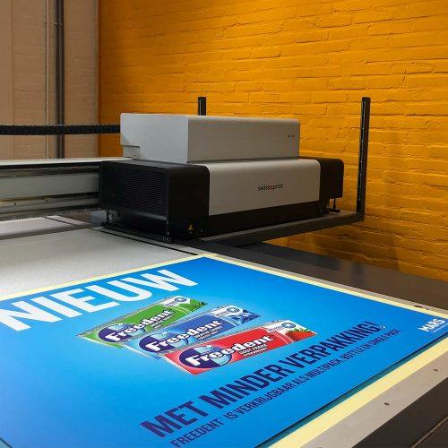 print op plaatmateriaal
