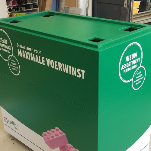 Houten display agrifirm flightcase