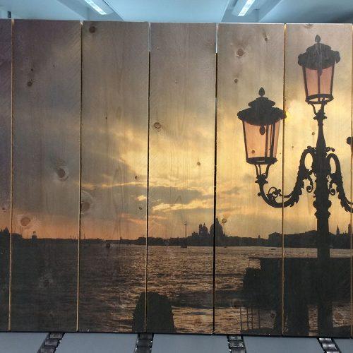 print op houten planken