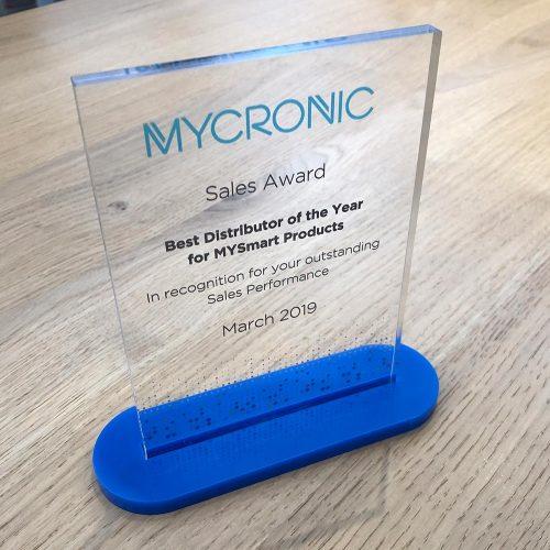 Glazen award voor sales