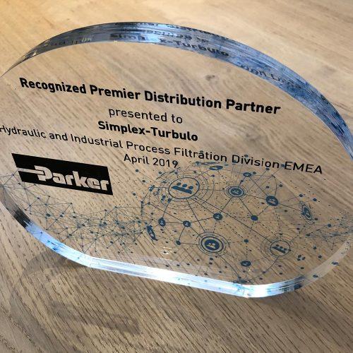 Glazen award voor partner