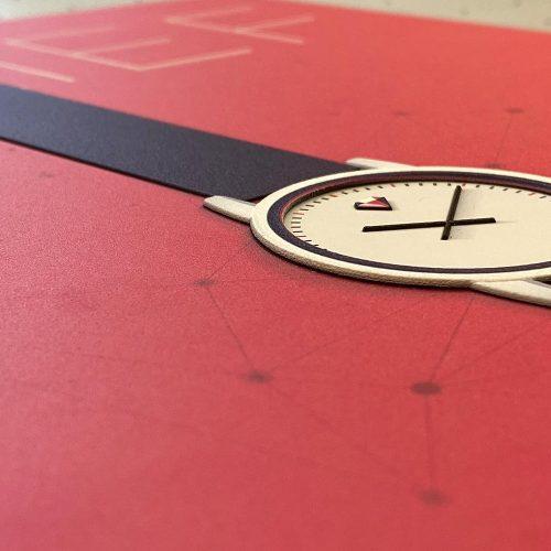 horloge print met reliëf