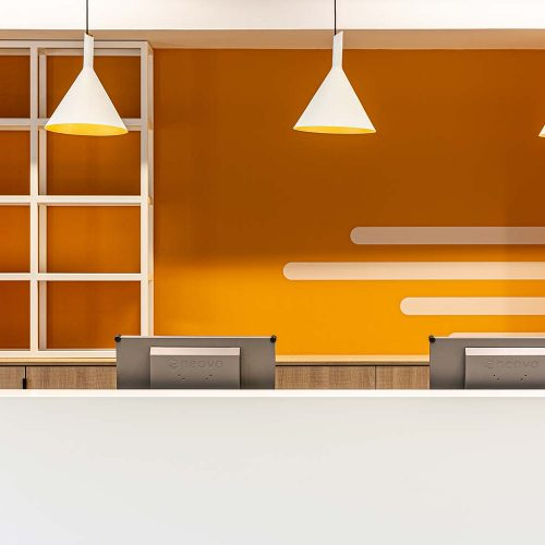 wanddecoratie oranje