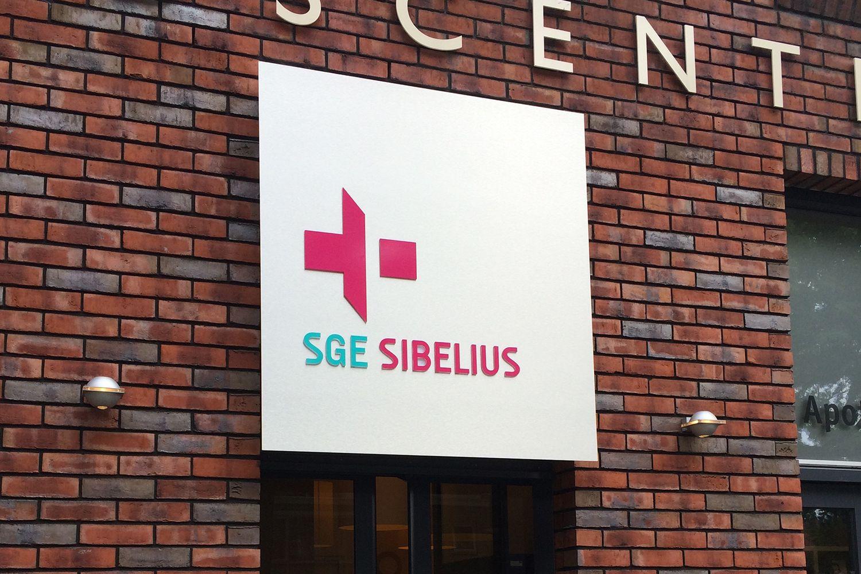 gevelreclame SGE sibelius